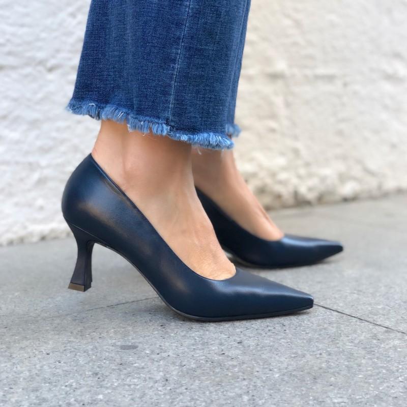LODI Zapato de salón piel azul marino